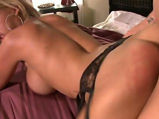 Busty Milf In High Boots Rides Guy Reverse Cowgirl In Bed