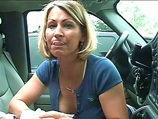 Sexy Milf Gives An Amazing Head In The Car And Swallows Cum